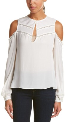 Haute Hippie Women's The Fiona Cold Shoulder Blouse