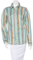 Etro Patterned Button-Up Top