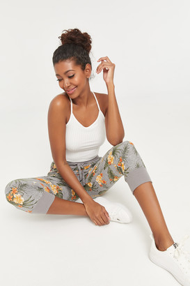 Ardene Cropped Floral Super Soft Joggers