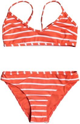 Roxy Kids' Stripe Two-Piece Swimsuit