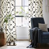 west elm Crewel Lattice Embroidered Curtain