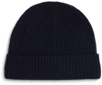Andrew Stewart Cashmere Ribbed Beanie