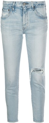 Moussy High Rise Cropped Jeans