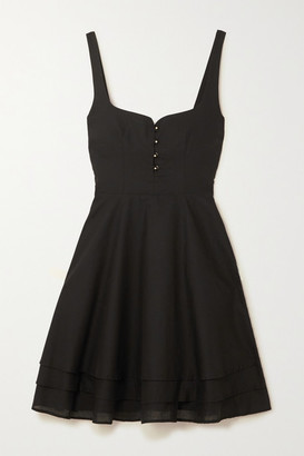 Esteban Cortazar Cotton-voile Mini Dress - Black
