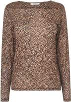 LK Bennett L.K.Bennett Electra Animal Print Wool Top