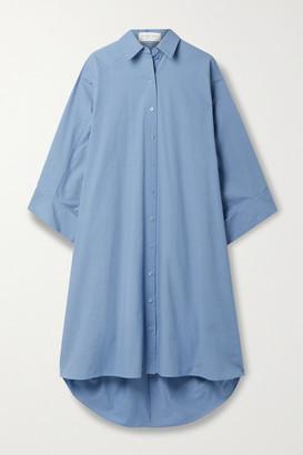 Michael Kors Collection Oversized Washed Cotton-poplin Shirt Dress - Blue