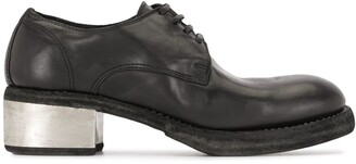 Guidi Contrast Heel Lace-Up Shoes