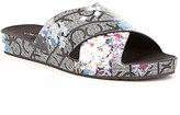 Calvin Klein Maleena Flower Print Slide-On Sandals