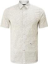 Diesel S-dove Micro Star Short Sleeve Shirt, Bright White
