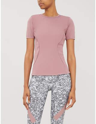 adidas by Stella McCartney Mesh-panel stretch-jersey T-shirt