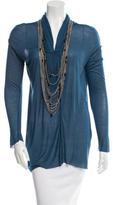 Yigal Azrouel Embellished Long Sleeve Top