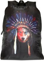 Marcelo Burlon County of Milan Wolf Print Nylon Backpack