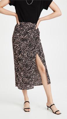 re:named apparel Mica Animal Wrap Maxi Skirt