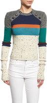 Isabel Marant Doyle Knit Colorblock Sweater, Ivory/Multi