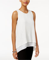Bar III Ribbed Contrast Top, Only at Macy's