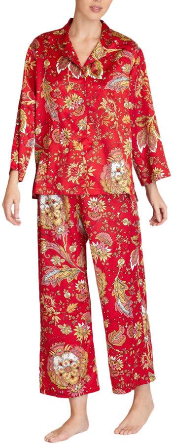Natori N Floral Pajama Set