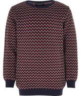 River Island Boys red zig zag knit sweater