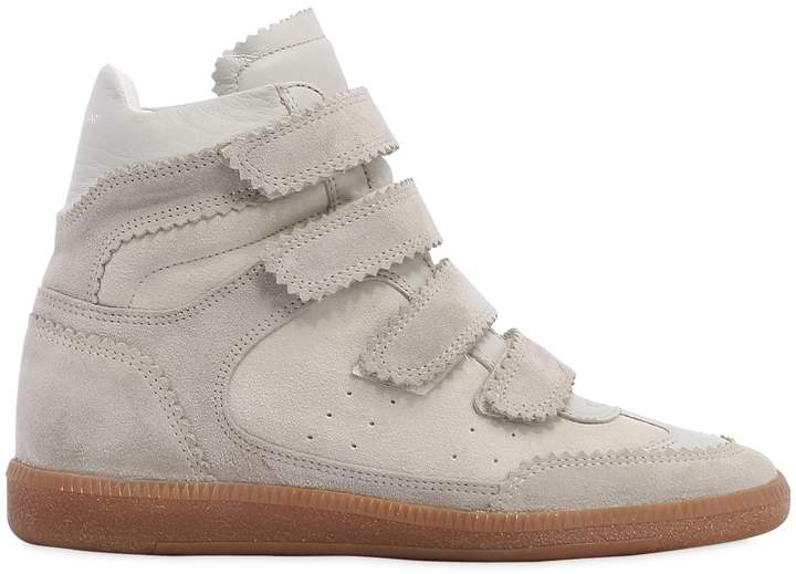 Isabel Marant 40mm Bilsy Suede Wedge Sneakers