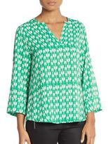 Collective Concepts Geo-Print Blouse