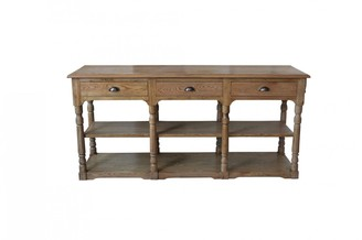 S & G Imports Two Tiered Console With Three Drawers