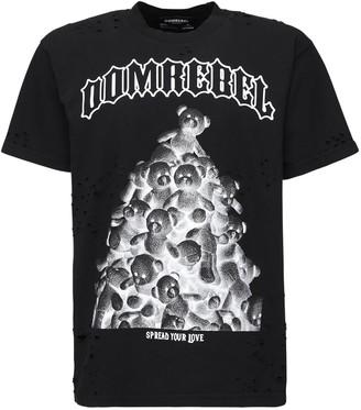 Dom Rebel Destroyed Box Cotton Jersey T-Shirt