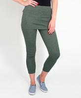 Magid Green Skirted Leggings - Plus Too