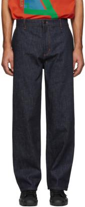 MONCLER GENIUS 5 Moncler Craig Green Blue Straight Jeans