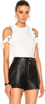3.1 Phillip Lim Ruffle Sport Tank with Zippers in White.