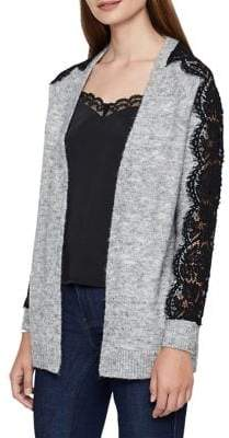 Vero Moda Lace-Sleeve Open Cardigan