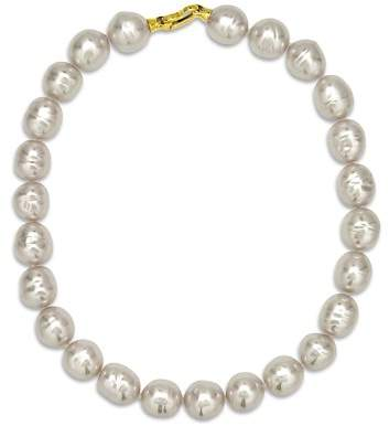 Majorica Baroque Simulated Pearl Collar Necklace, 17""