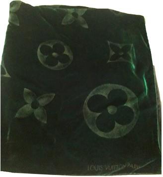 Louis Vuitton Chale Beyond Monogram Green Velvet Scarves