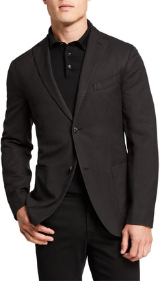 Boglioli Men's Herringbone Two-Button Wool Jacket
