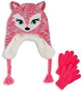 Capelli Girls' Fancy Fox Hat & Glove Set - Sizes S/M, M/L