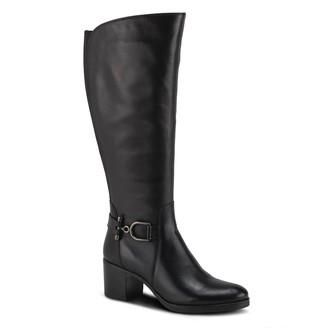 Spring Step Leather Block Heel Boots - Araya