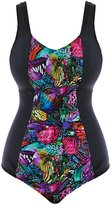 Elomi Kaleidoscope Gathered Swimsuit - Moulded Cups in *Sizes 18-26*