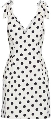 Zimmermann Corsage Tie Bow-embellished Polka-dot Linen Mini Dress