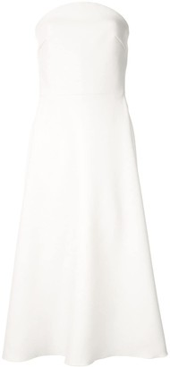 Dion Lee concave crepe strapless dress