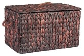 Household Essentials Small Autumn Wicker Storage Trunk - Brown