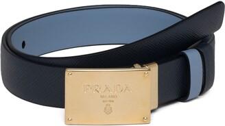 Prada Reversible Logo-Buckle Belt