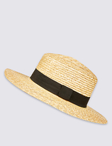 M&S Collection Boater Summer Hat