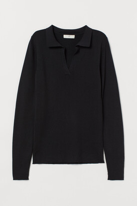 H&M Collared ribbed jumper
