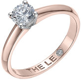Leo Diamond 18ct rose gold 0.50ct I-I1 solitaire ring