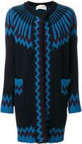 Antonia Zander chevron pattern cardigan