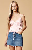 Honey Punch Silky Lace Trim Cami Tank Top
