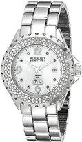 August Steiner Women's AS8156SS Silver-Tone Japanese Quartz Watch