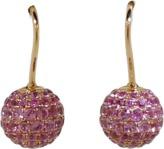 SHAMBALLA JEWELS Pink Sapphire Pave Earrings