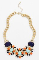 Tildon Floral Stone Statement Necklace