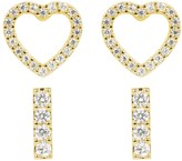 Juicy Couture Cutout Heart Stud Earring Set