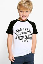 Boohoo Boys Contrast Long Island Tee