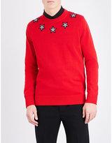 Givenchy Star-appliqué Cotton Jumper